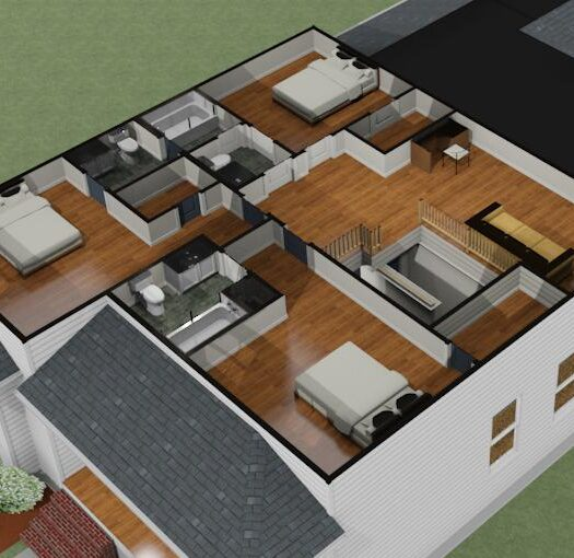 3D 2ND FLOOR PLAN